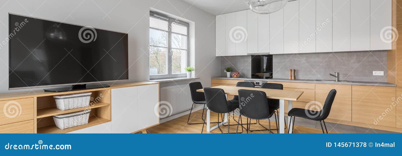 Panorama D\'intérieur à La Maison Moderne Photo stock - Image ...