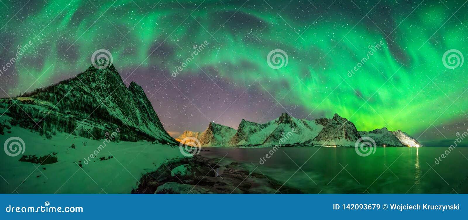Panorama da Aurora de Kliptinden