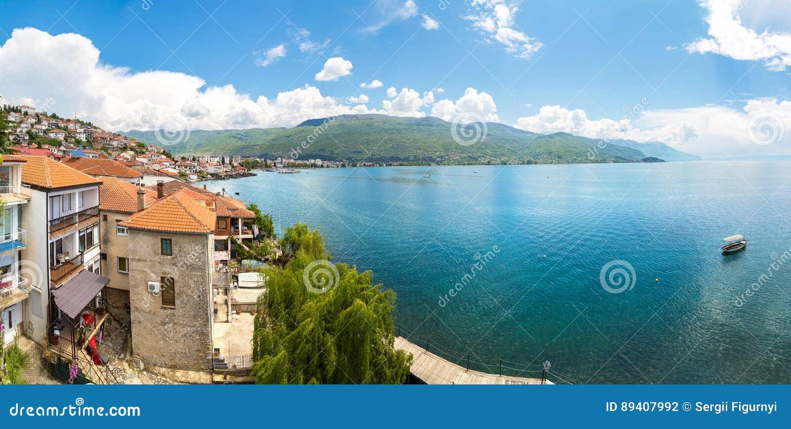 Panorama da cidade de Ohrid
