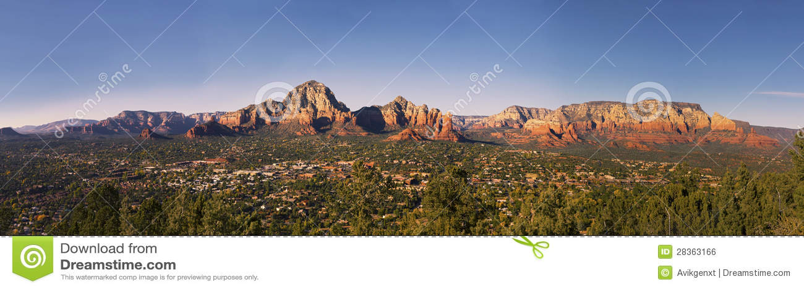Panorama da cidade de Sedona