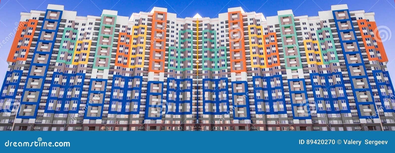Panorama da construção em um fundo branco