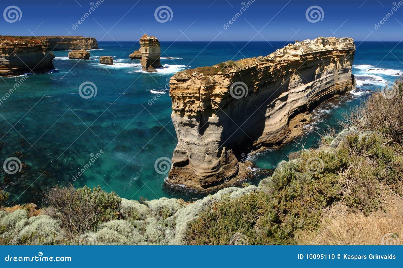 Panorama da costa do Shipwreck, Austrália