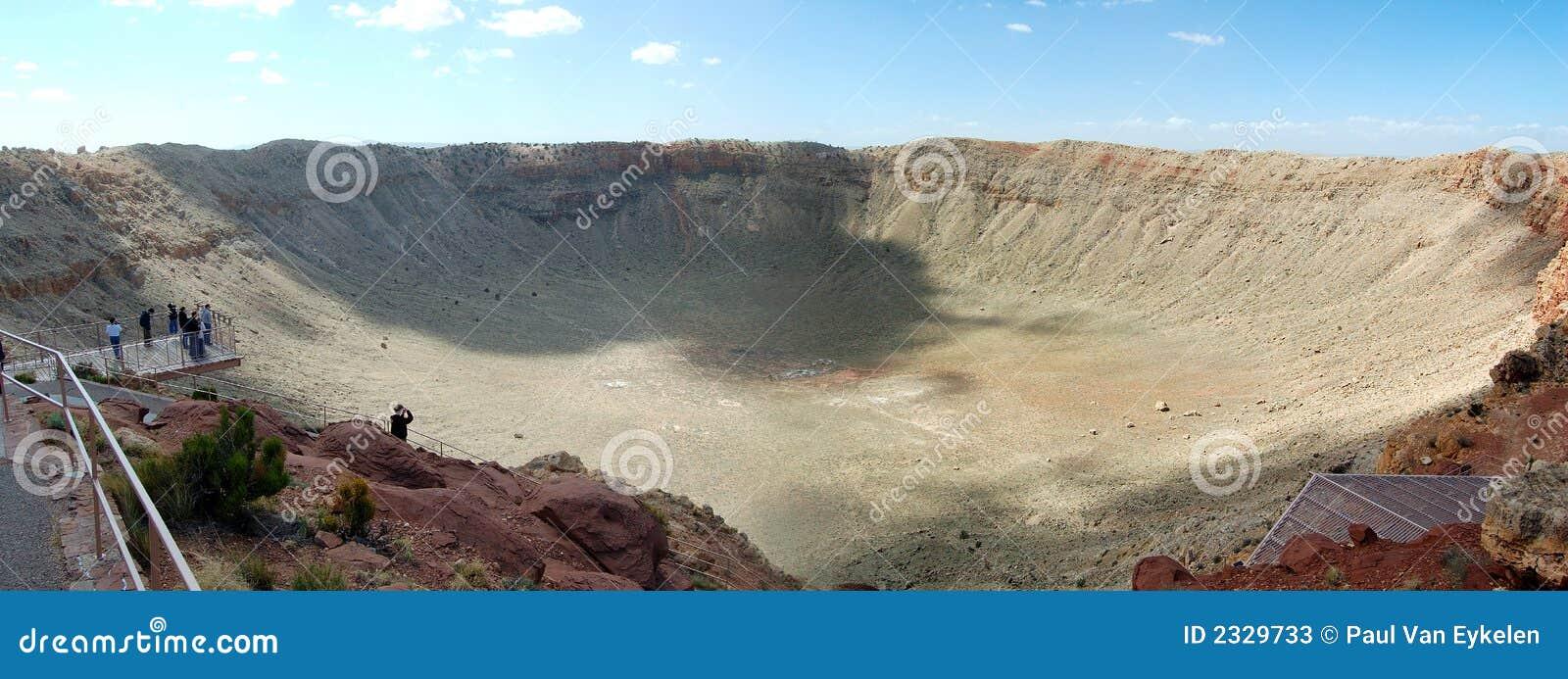 Panorama da cratera do meteoro