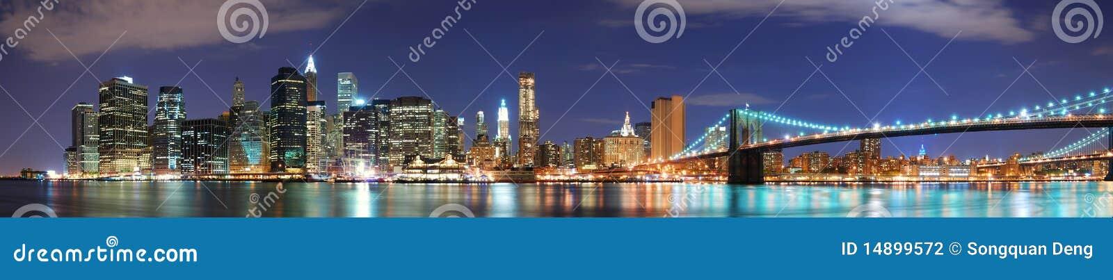 Panorama da skyline de New York City Manhattan