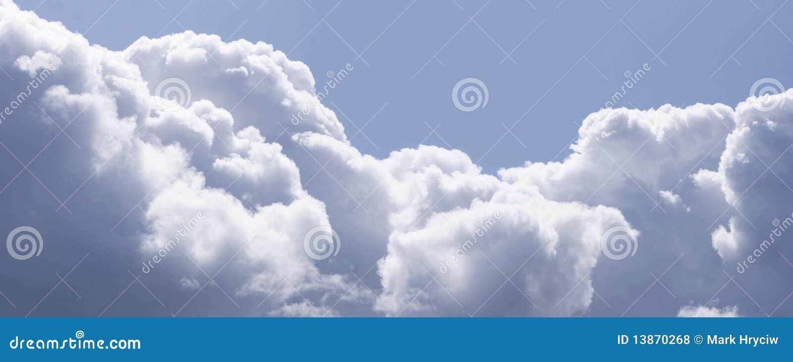 Panorama das nuvens