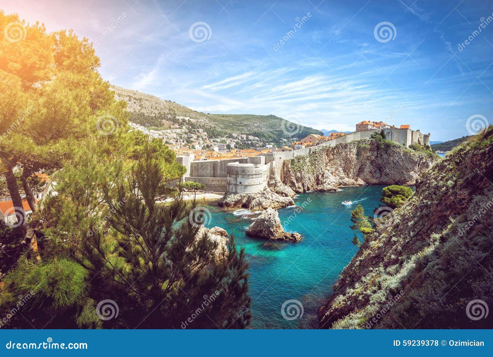Download Panorama de Dubrovnik foto de archivo. Imagen de ciudad - 59239378