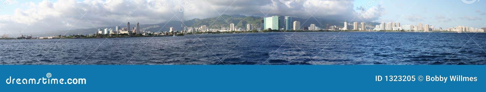 Panorama de Honolulu/Waikiki