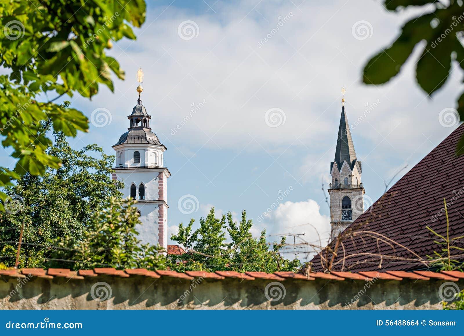 Panorama de Kranj, Slovénie, l Europe