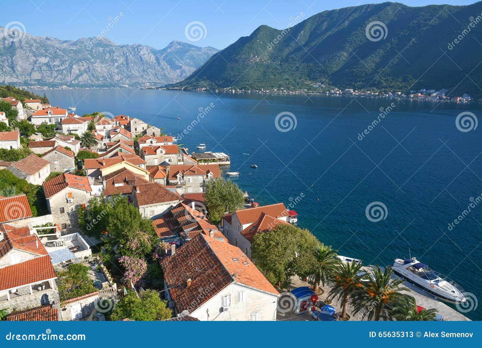 Panorama de la baie de Kotor