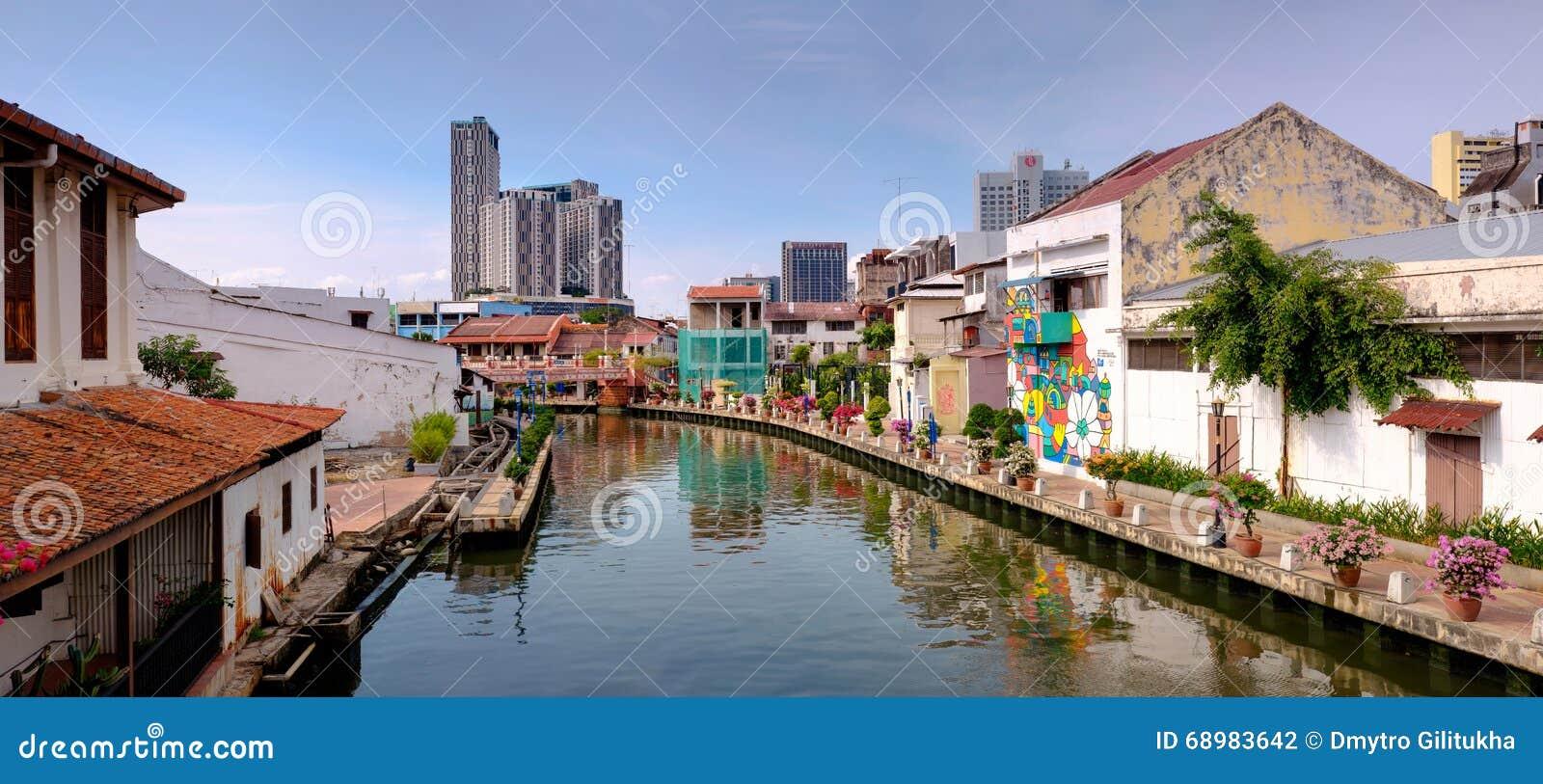 Panorama de la ciudad de Malaca