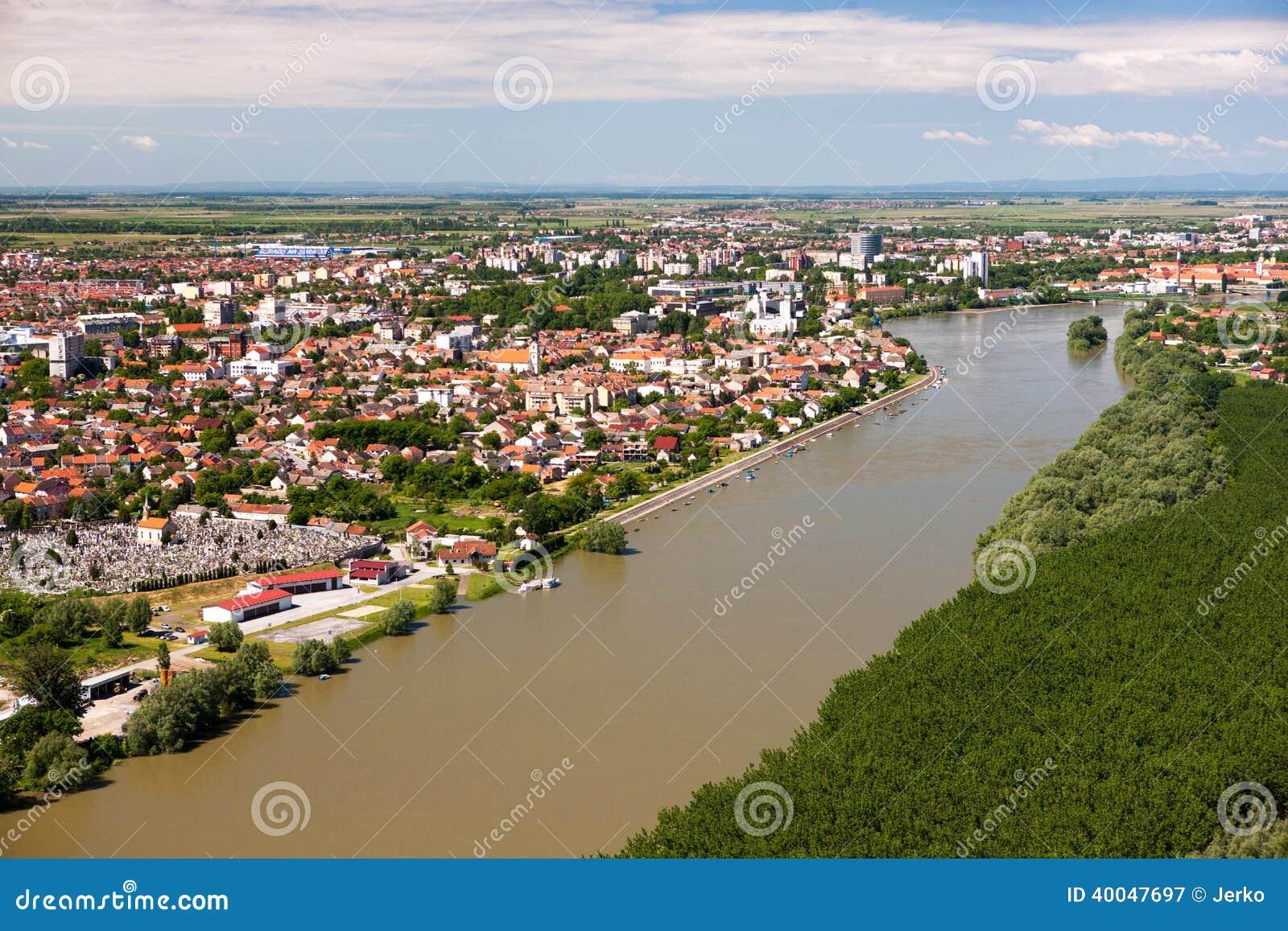 Panorama de la ciudad del Osijek
