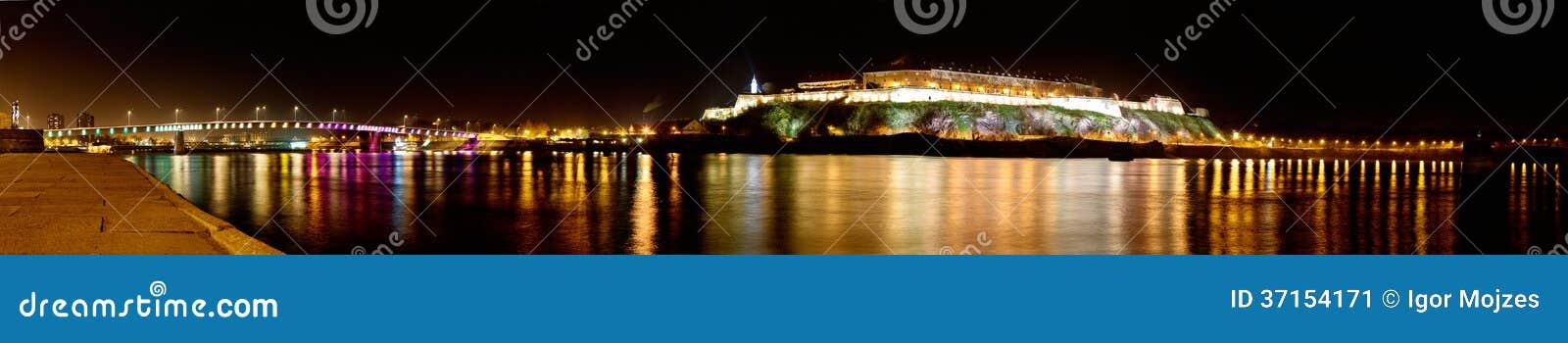 Panorama de la fortaleza de Petrovaradin en Novi Sad, Serbia