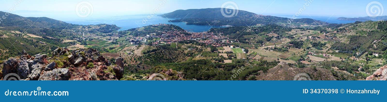 Panorama de la isla de Elba, Toscana, Italia, Europa