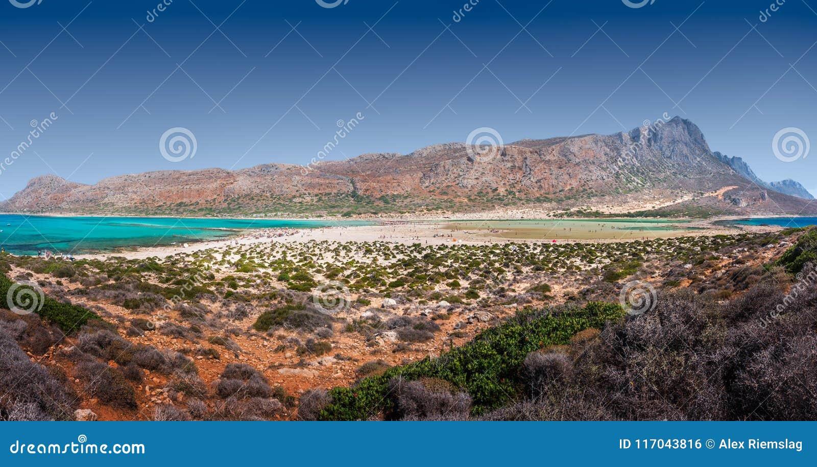 Panorama de la playa de Balos, Creta, Grecia