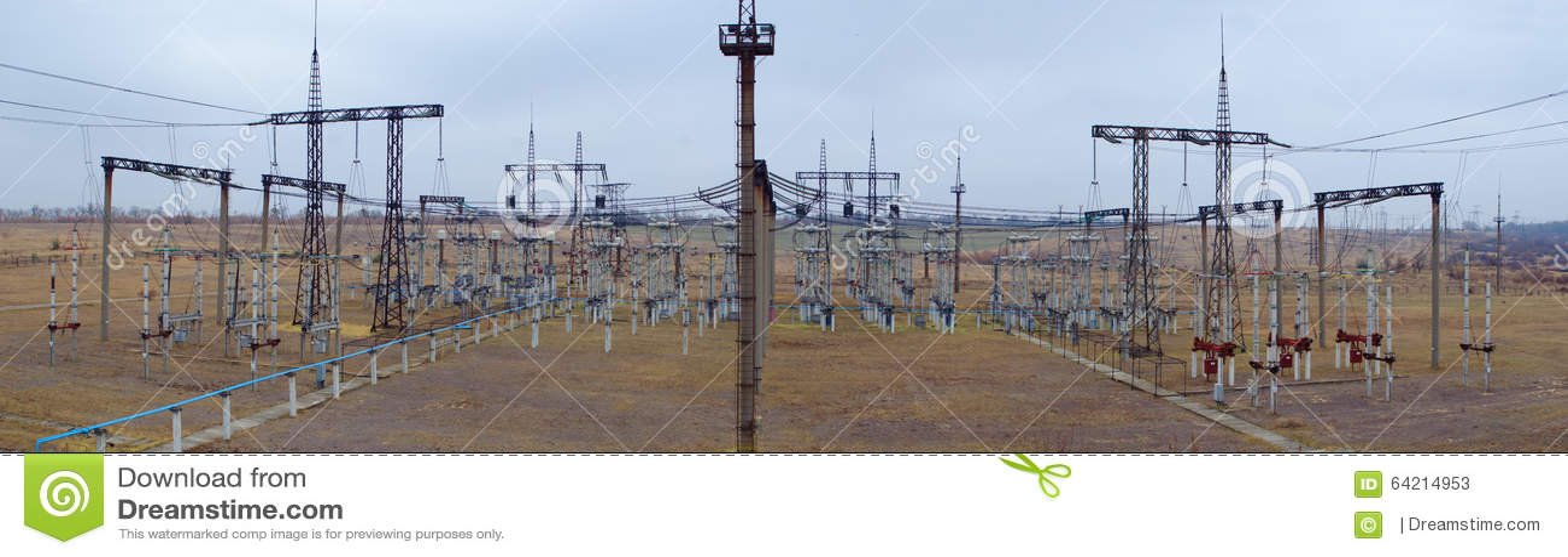 Panorama de la subestación eléctrica