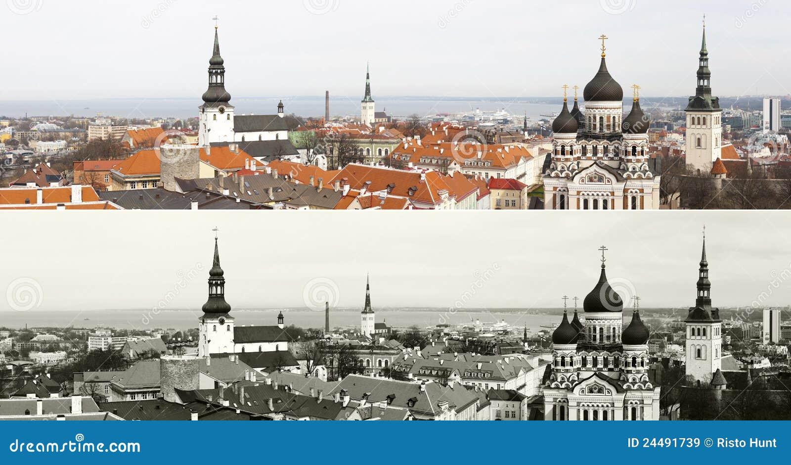 Panorama de la vieille ville de Tallinn, Estonie