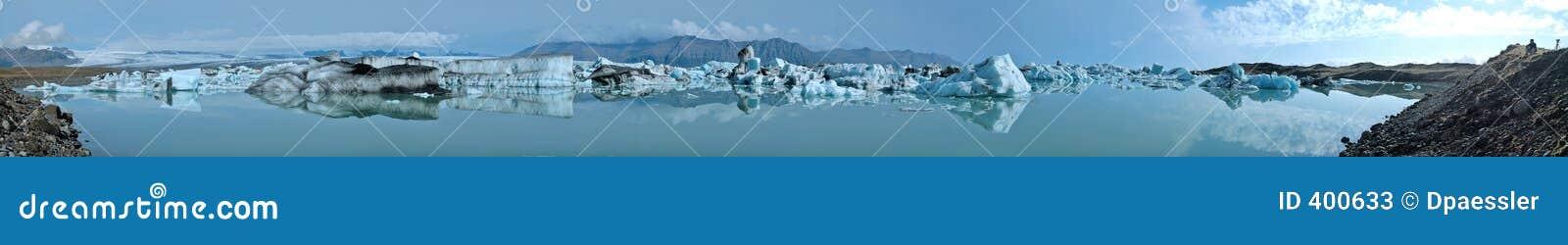 Panorama de lac glacier