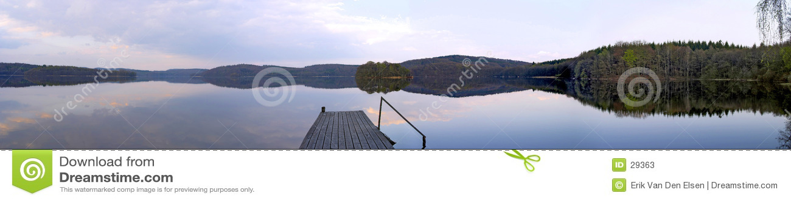 Panorama de lac sweden
