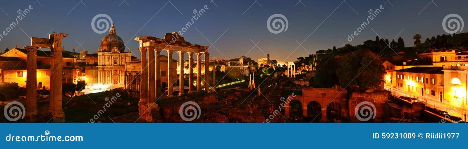 Panorama de las ruinas romanas, Roma