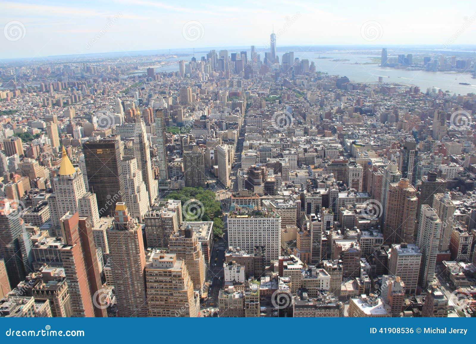 Panorama de Manhattan, Nueva York los E.E.U.U.