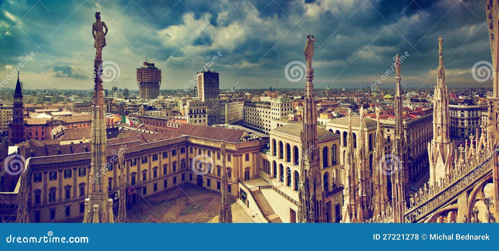 Panorama de Milão, Italy