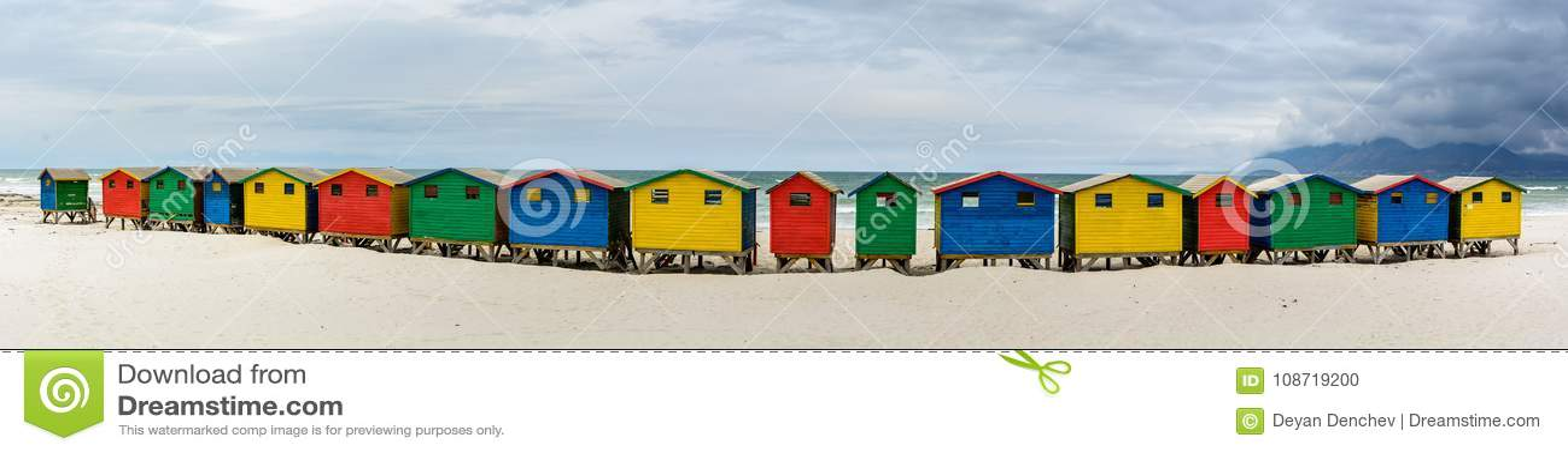 Panorama de Muizenberg, Cape Town, África do Sul