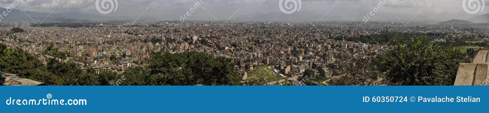 Panorama de paysage urbain de Katmandou nepal