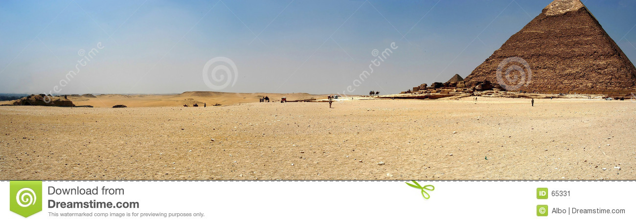 Download Panorama de pyramide image stock. Image du pharaon, pyramide - 65331