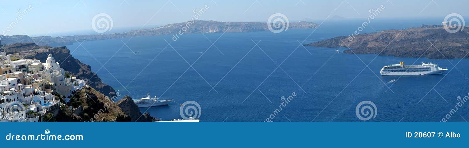 Panorama de Santorini