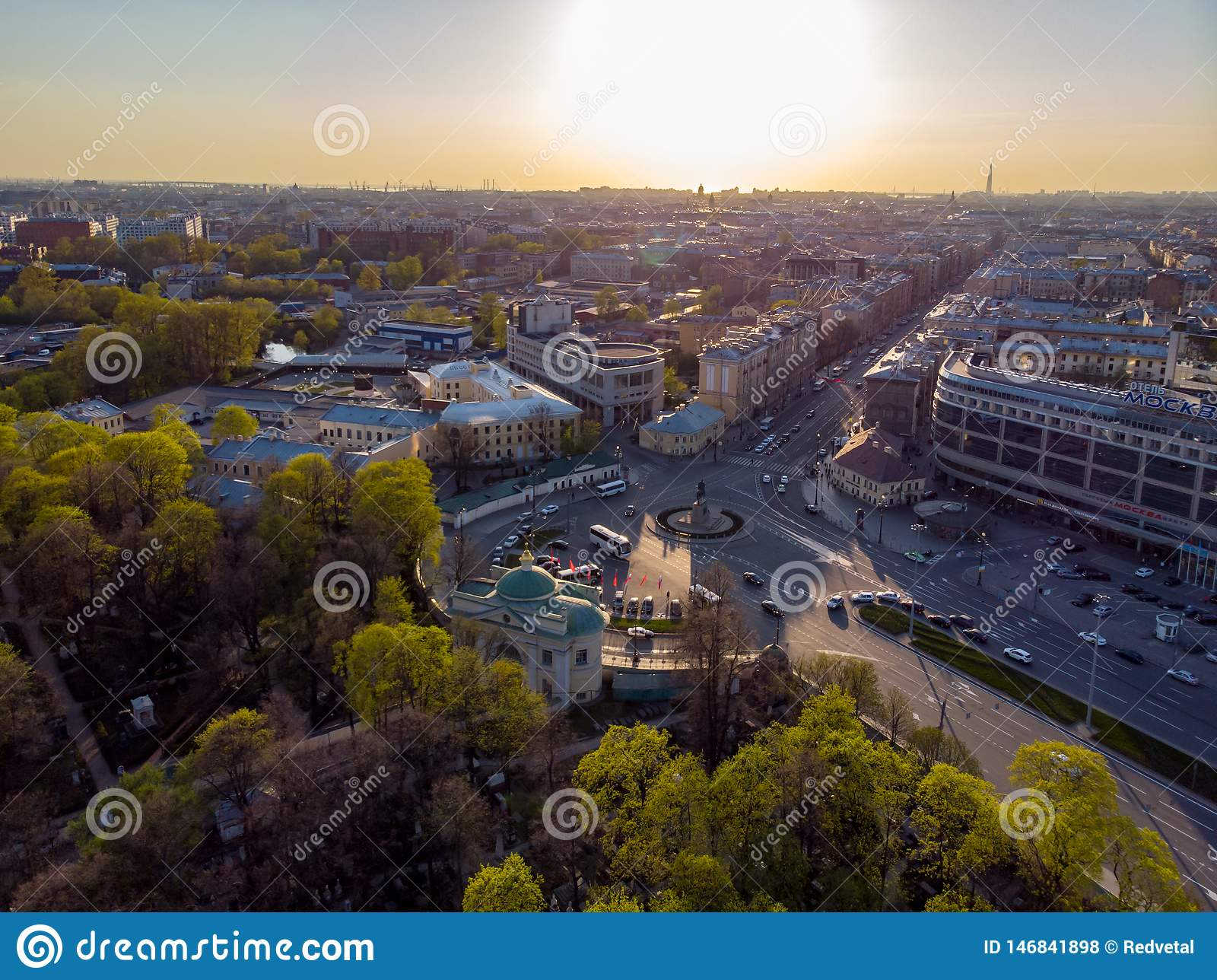 Panorama de St Petersburg Rusia Centro de ciudad Alexander Nevsky Bridge R?o de Neva Alexander Nevsky Square Configuraci?n