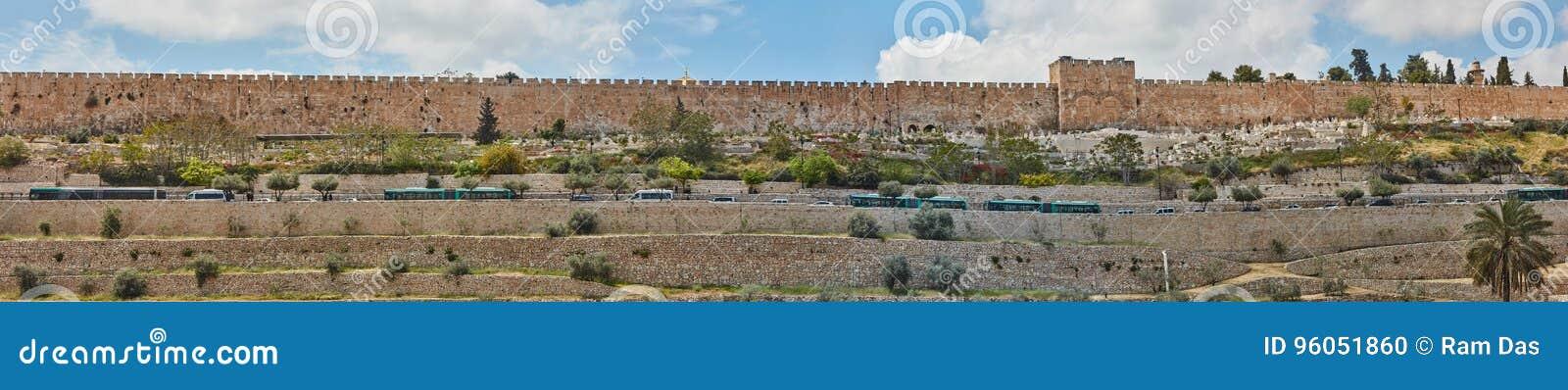 Panorama de vieille ville de Jérusalem