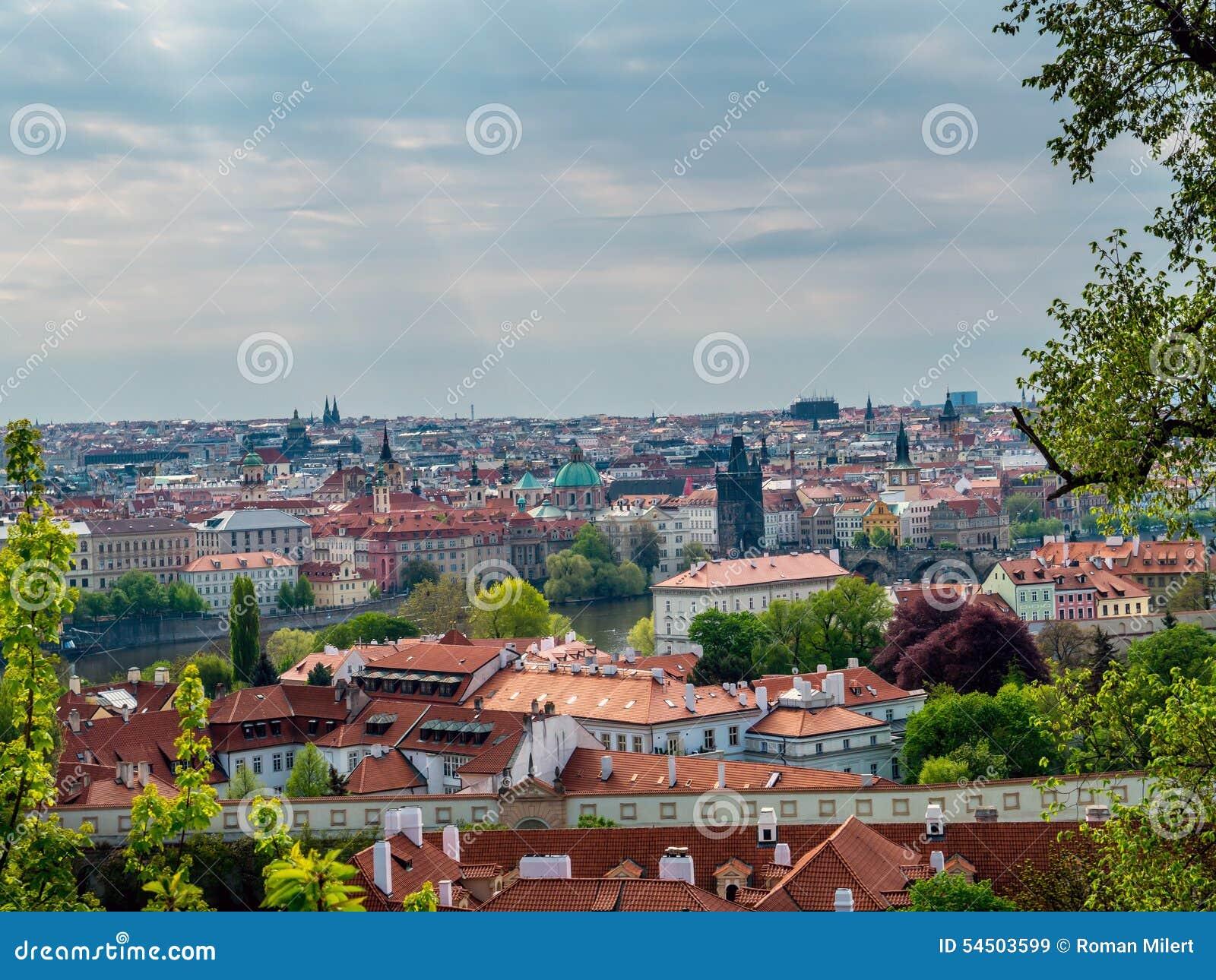 Panorama de vieille ville Prague