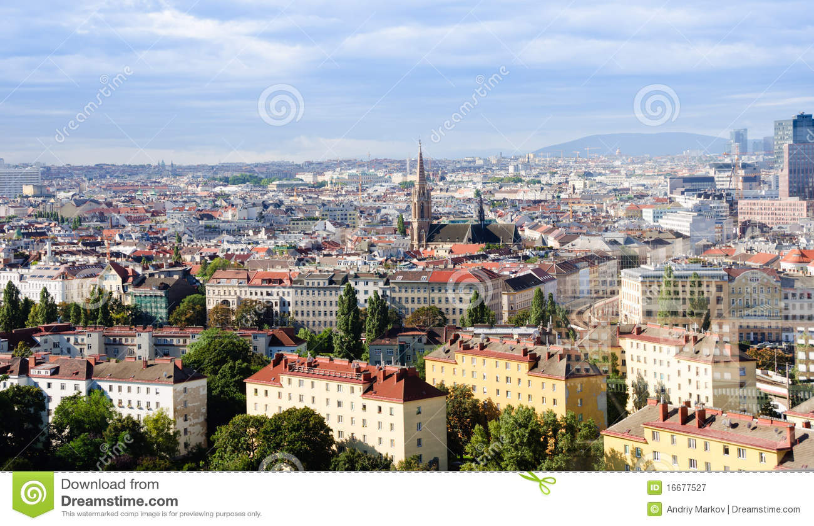 Panorama de vienne photographie stock libre de droits for Piscine de vienne