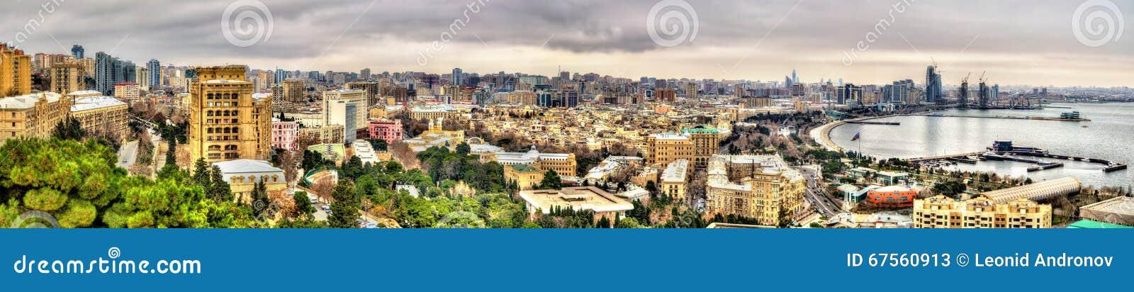 Panorama de ville de Bakou