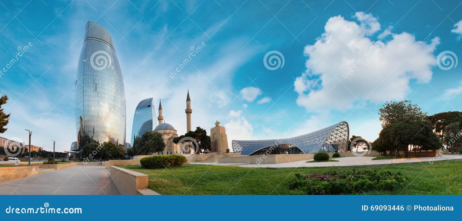 Panorama de ville de Bakou, Azerbaïdjan