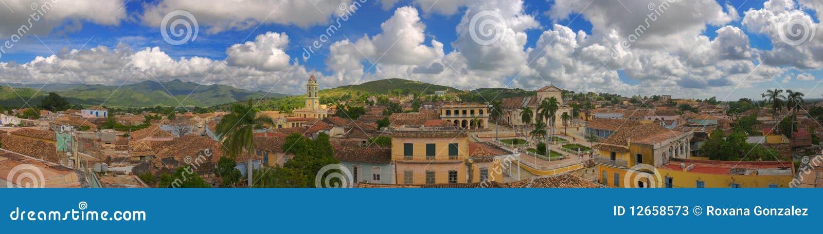 Panorama de ville du Trinidad, Cuba
