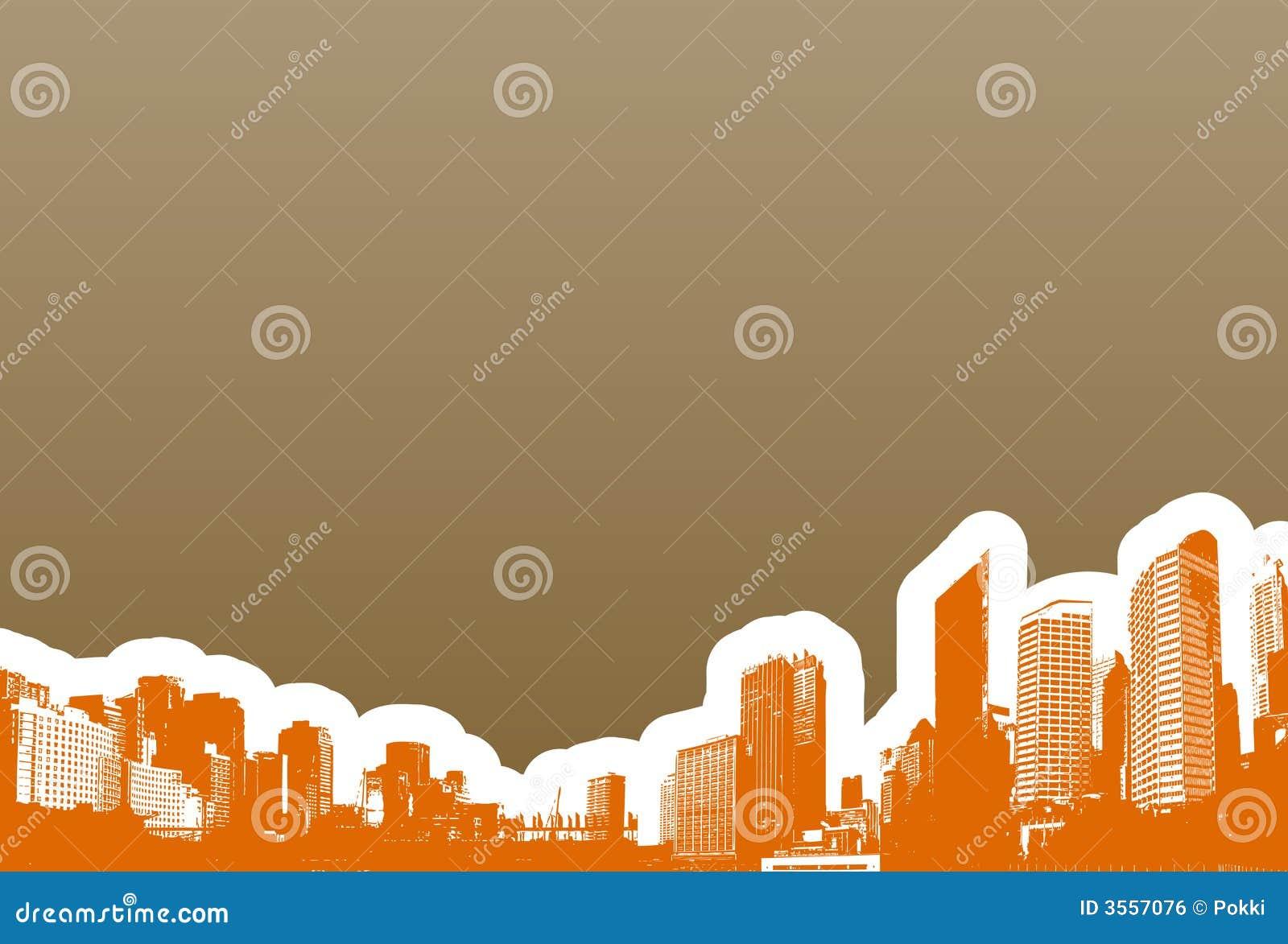 Panorama dei grattacieli. Vettore