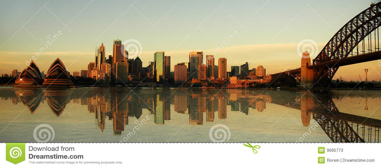Panorama dei limiti di Sydney
