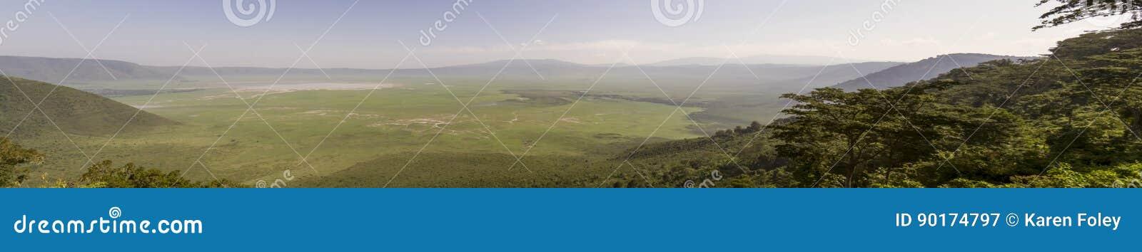 Panorama del cratere di Ngorongoro, Tanzania