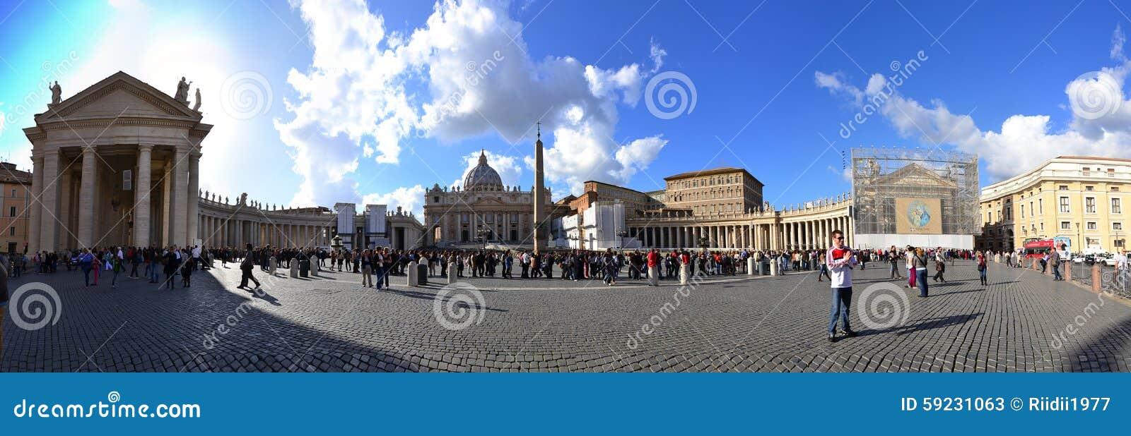 Download Panorama Del Cuadrado De San Pedro Del Vaticano Foto de archivo editorial - Imagen de cuadrado, europa: 59231063