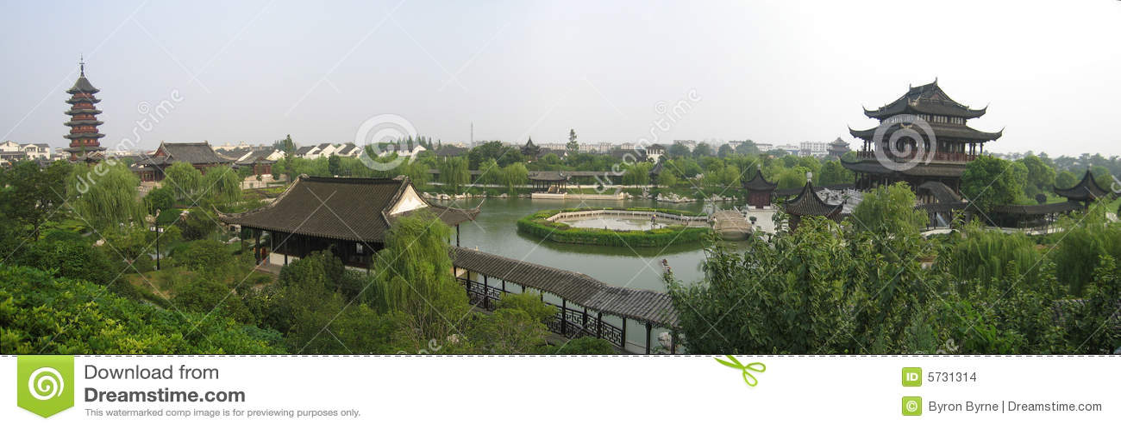 Panorama del giardino di suzhou
