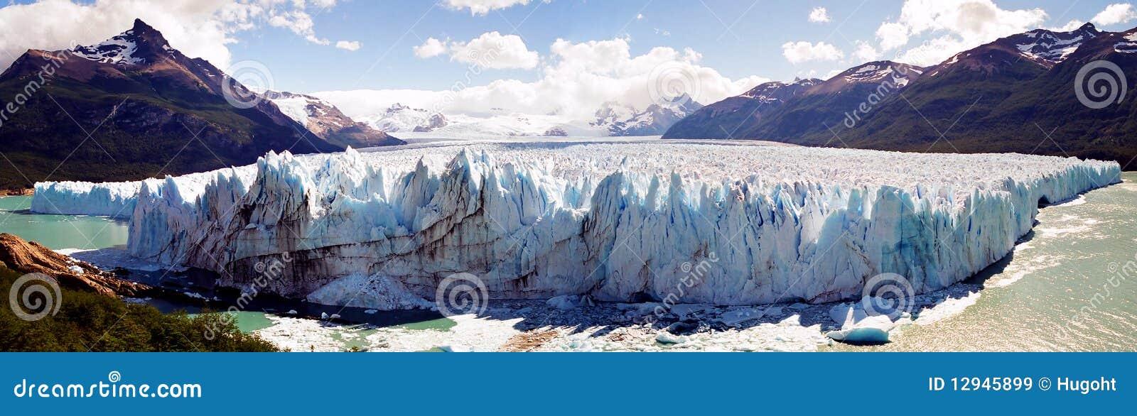 Panorama del glaciar de Perito Moreno