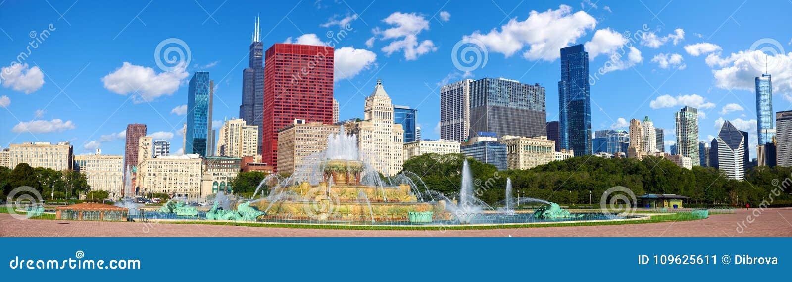 Panorama del horizonte de Chicago