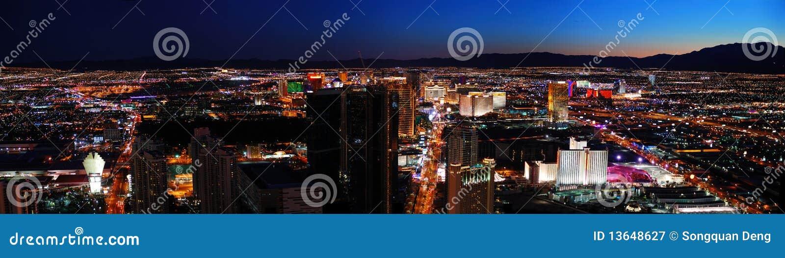 Panorama del horizonte de la ciudad de Las Vegas