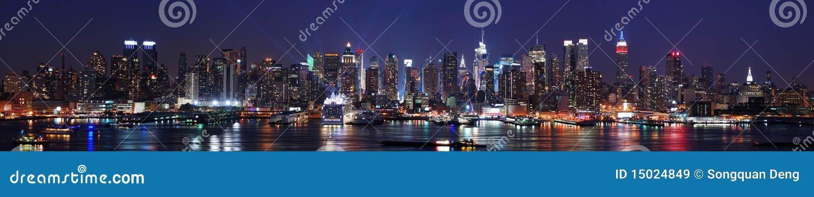 Panorama del horizonte de New York City Manhattan