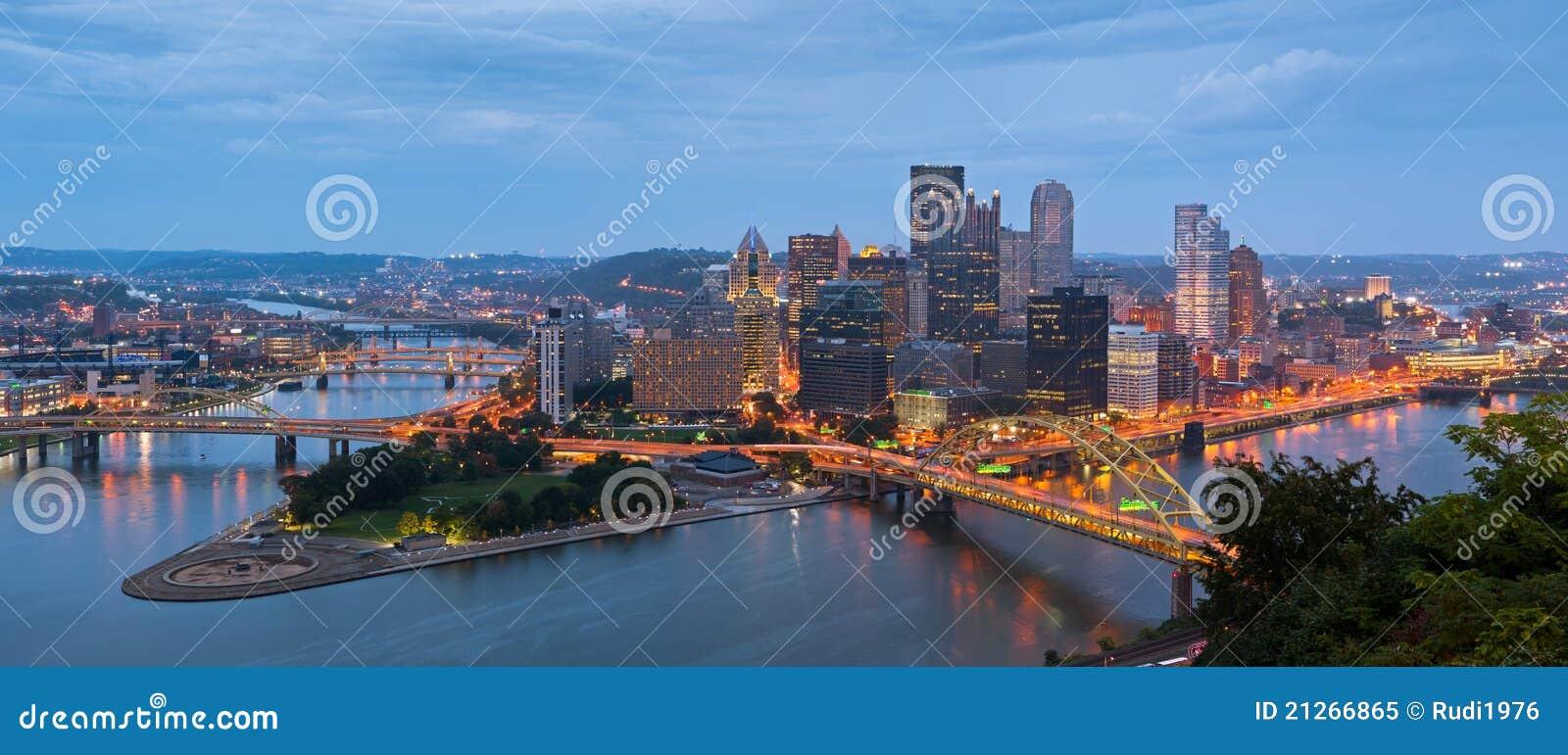 Panorama del horizonte de Pittsburgh.