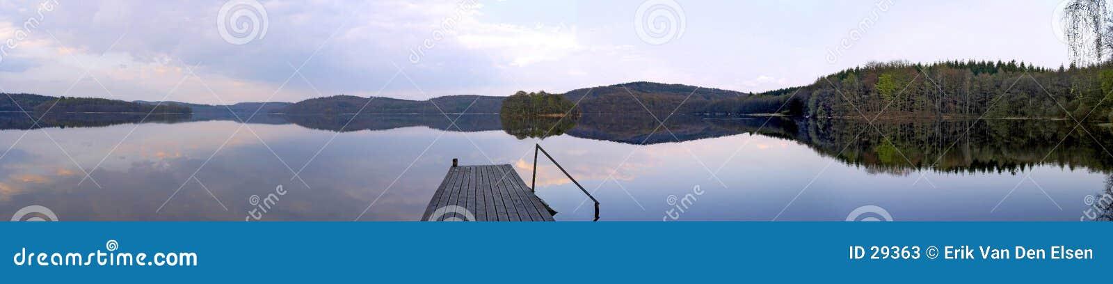 Panorama del lago sweden