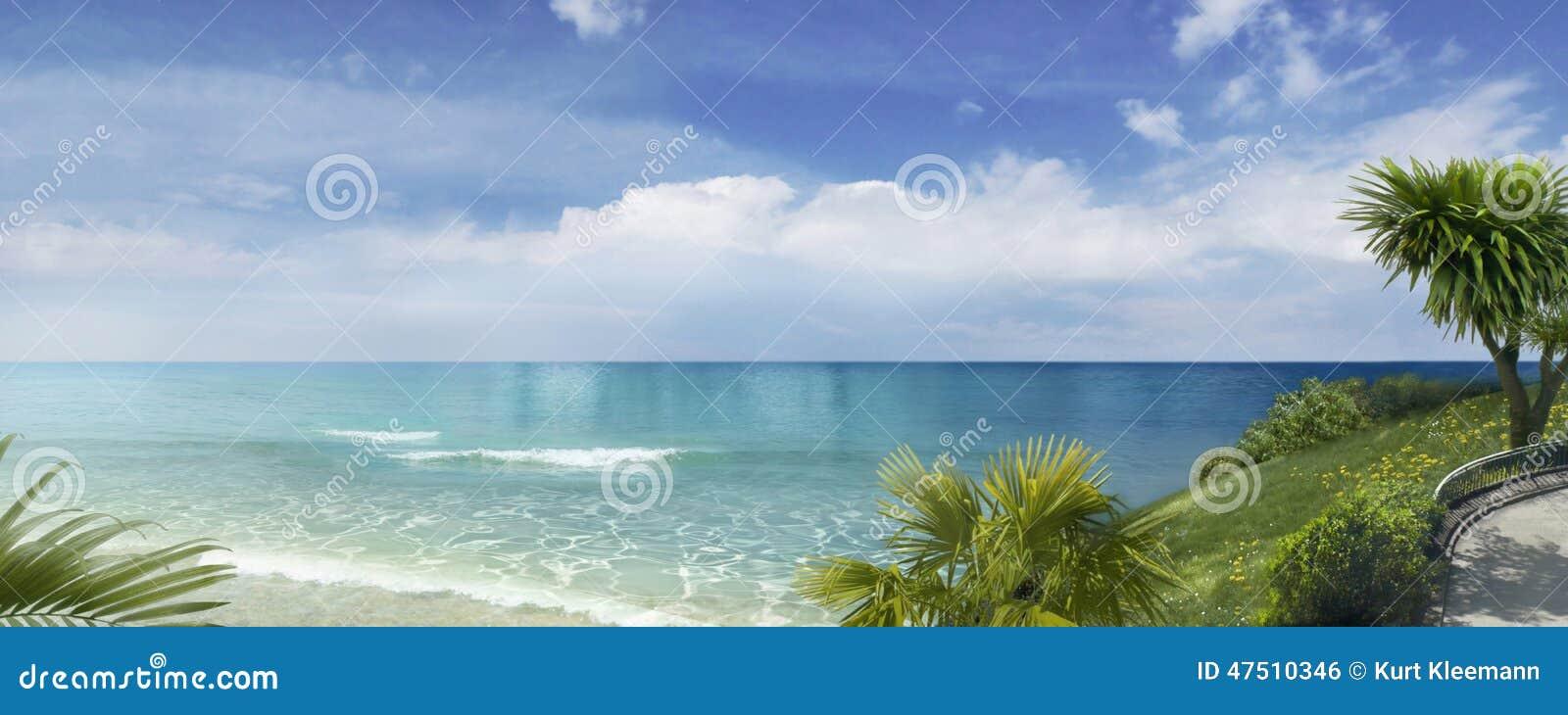 Panorama del mar del sur