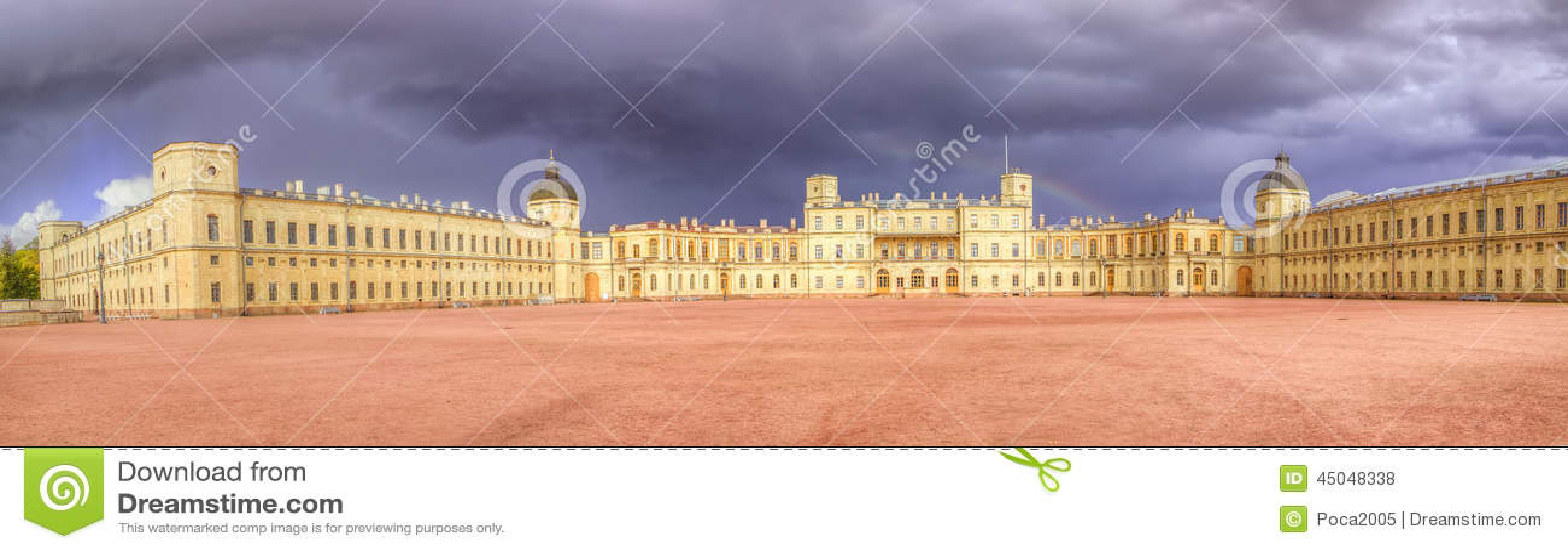 Panorama del palazzo di Gatcina
