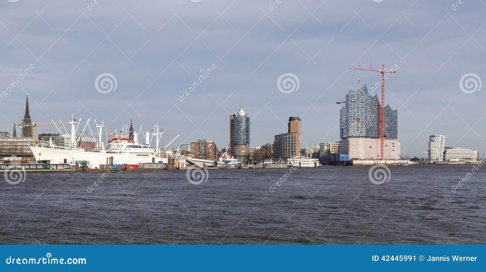 Panorama del puerto de Hamburgo